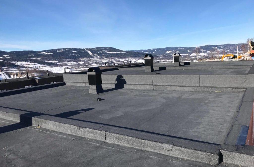 Prosjekt Nordaltoppen: Tak 58,3M², med sammenligning mot ordinært 2-veisfall