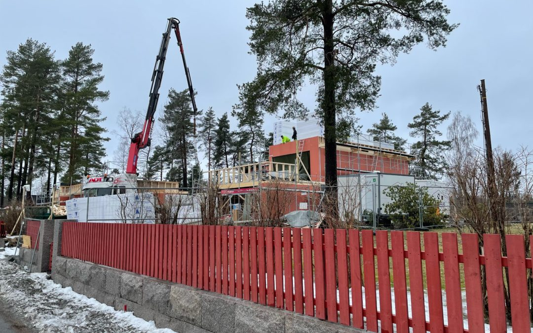 Prosjekt Østre vei: Tak og terrasser 258 M²